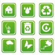 Set of recycle icons — Stock Photo