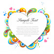 Multicolored valentine card — Stockfoto