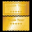 Golden tickets — Stockfoto
