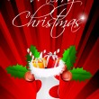 Abstract merry christmas card — Foto de Stock