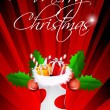 abstrakte merry Christmas card — Stockfoto
