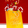 Stock Photo: Merry christmas card with gifts