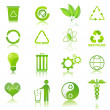 Recycle icons - Stock Photo