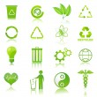 Recycle icons - Stock fotografie
