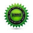 100% satisfaction service tag — Stock Photo