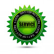 100% satisfaction service tag — Stockfoto