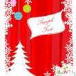 Abstract merry christmas card — 图库照片