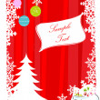 abstracte merry xmas card — Stockfoto