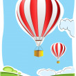 Parachute on air - Stock Photo