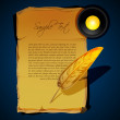 Writing feather — Foto de Stock
