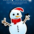 Abstract christmas card with snowman — Stock Photo