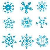 Kar taneleri şekilleri — Stok fotoğraf