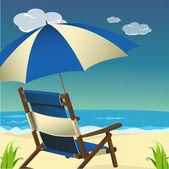 Sea beach scene — Stock Photo