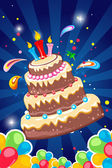 Cheerful birthday card — Stock Photo