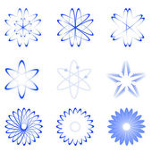 Different shapes of atom — Stock Photo