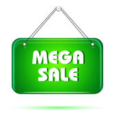 Mega sale tag — Stock Photo