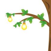 Bulbs on tree — Stock Photo