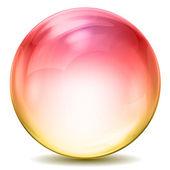 Kleurrijke kristallen bol — Stockfoto