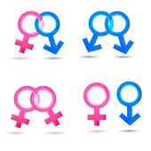Sex icons — Stock Photo