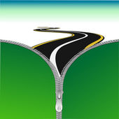 Road with zip — Stock Photo