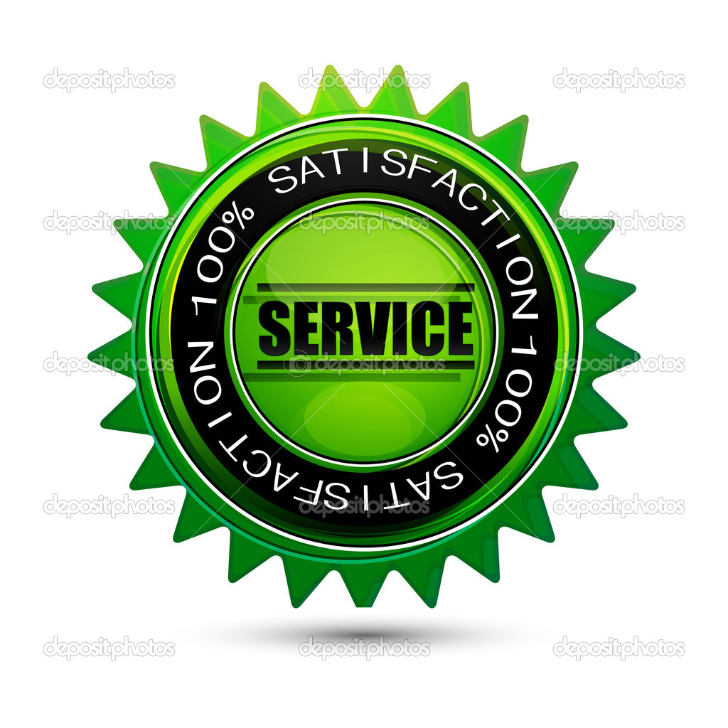 Illustration of 100% satisfaction service tag on isolated background — Stock Photo #4525686