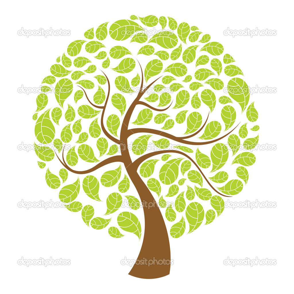 Illustration of natural tree on white background — Stock Photo #4525750