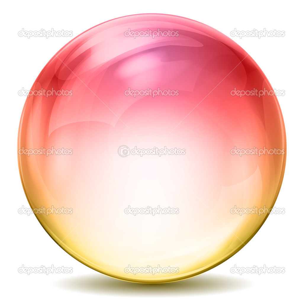 Illustration of colorful crystal ball on white background — Stock Photo #4525864