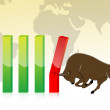 Business graph with bull — Stock Photo