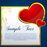 Floral valentine card — Stock Photo