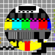 Stock Photo: television color test pattern