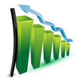 Growing business graph — Stock Photo
