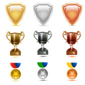 Prizes icons — Stock Photo