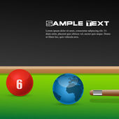 Snooker game with ball globe — Stock Photo
