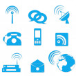 Communication icons — Stock Photo