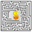 Royalty-Free Stock Photo: Dollar maze
