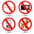 Warning icons — Stock Photo