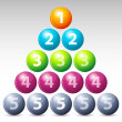 Colorful number balls — Stock Photo #4563302