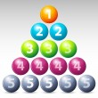 Colorful number balls — Stock Photo