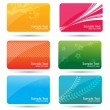 colorful business cards — Stock Photo