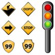 Traffic signs - Stok fotoraf