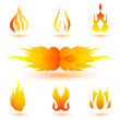 Shapes of fire - Stock Photo