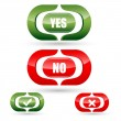 Royalty-Free Stock Photo: Yes and no buttons