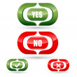 Yes and no buttons — Stock Photo #4563560