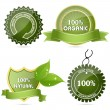 100% natural tags — Stock Photo