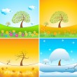 Types of weather — Stock Photo