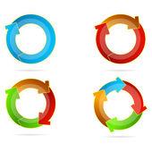 Multicolored arrows — Stock Photo