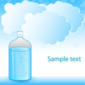 Clouds with water tank — Stock Photo