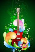Carta colorata di musica — Foto Stock