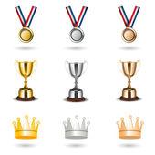 Reward icons — Stock Photo