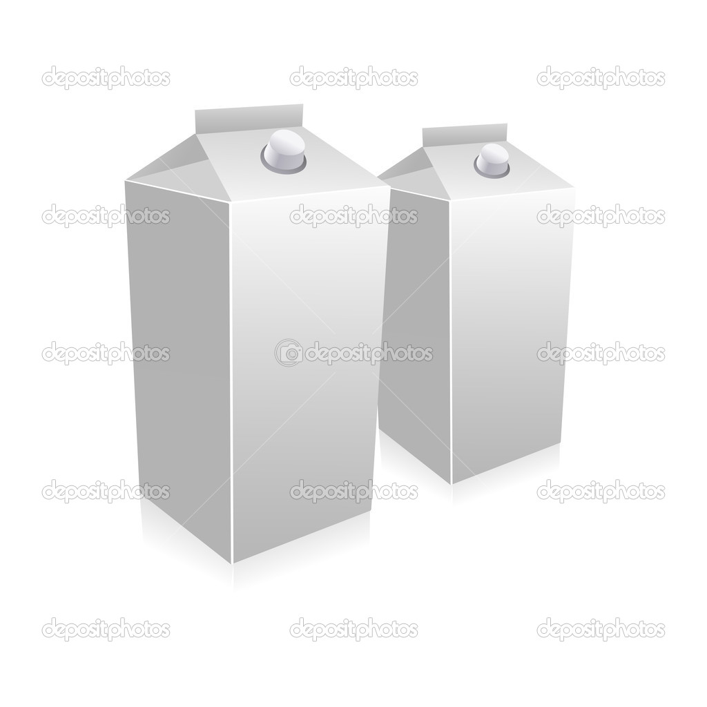 Illustration of milk carton on white background — Stock Photo #4563313